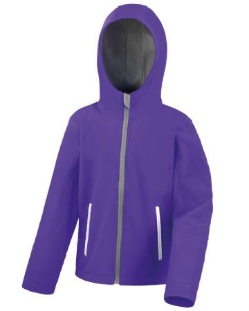 NEWTON PARK PRIMARY SCHOOL PURPLE HOODED SOFTSHELL WITH LOGO